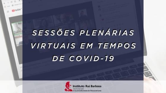 Sessões Plenárias Virtuais