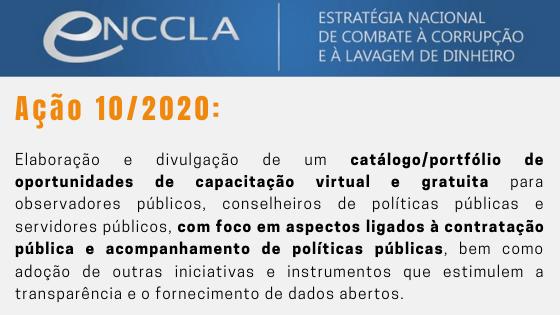 Ação 10/2020 ENCCLA