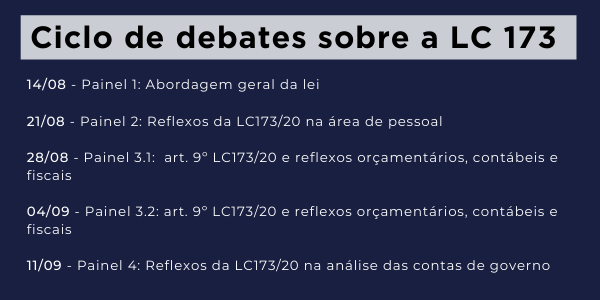 Ciclo de debates sobre a LC 173